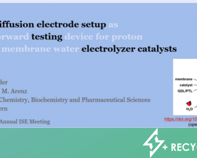 RECYCALYSE at the 72nd Annual Meeting of the International Society of Electrochemistry